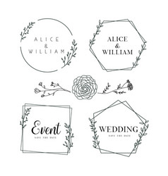 Hand drawn floral frame background collection vector