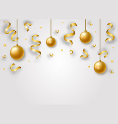 happy new year background with golden shiny vector image