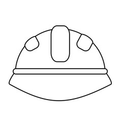 Helmet under construction related icon image vector