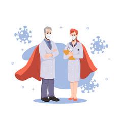 hero doctors team experienced medical specialists vector image