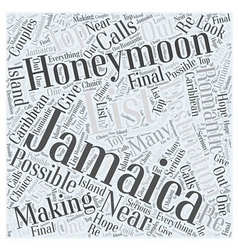 Honeymooning in Jamaica Word Cloud Concept vector