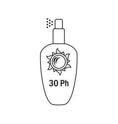 icon of sun protection spray vector image
