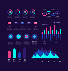 infographic elements bar graphs marketing vector image