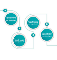 infographic four step circles with vector image