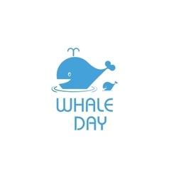 Isolated cartoon whale Ocean vector