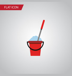 isolated cleaning flat icon bucket element vector image