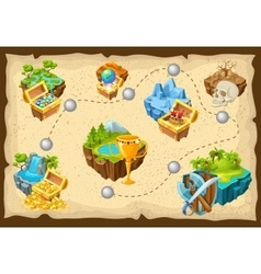 Isometric levels game islands composition vector