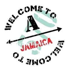 Jamaica stamp rubber grunge vector