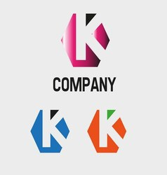K logo K letter icon vector