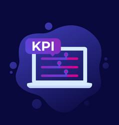 Kpi business indicator icon vector