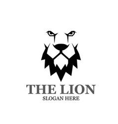 Lion king logo designs modern simple vector
