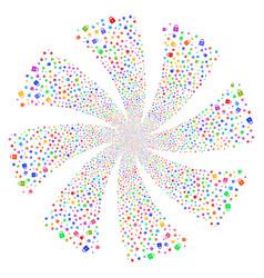 Lock fireworks swirl flower vector