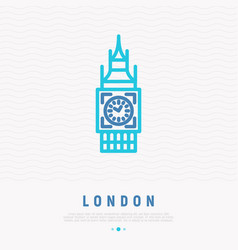 london landmark thin line icon vector image