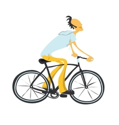 Man on a bicycle vector