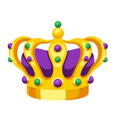 mardi gras carnival crown vector image