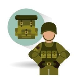 Military soldat design vector