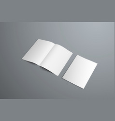 mockup open bifold brochures and covers vector image