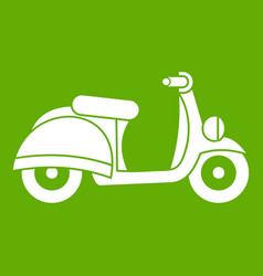 Motorbike icon green vector