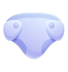 Night diaper icon cartoon style vector