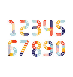 numbers colorful overlay vector image