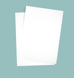 paper on a blue background mock up vector image