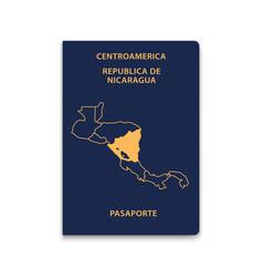 Passport nicaragua citizen id template vector