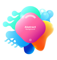 plastic colorful shapes fluid multicolor banner vector image