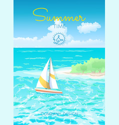 poster summertime vector image