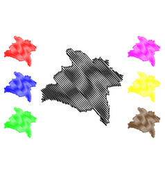 Prachinburi province map vector