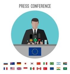 Press conference icon vector