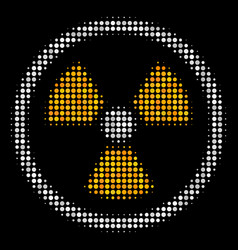 radioactive halftone icon vector image