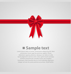 ribbon with a bow vector image vector image
