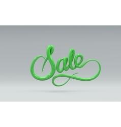 Sale Sign 3D lettering vector image