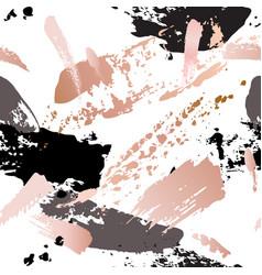 seamless pattern - grunge brush strokes in pastel vector image