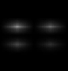 set white halftone gradient textures background vector image