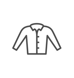 shirt line icon vector image