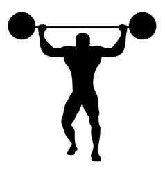 Silhouette strongman dressed in old way vector