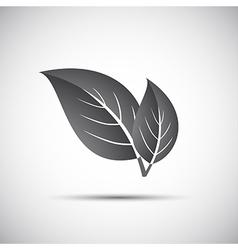 Simple grey of leaves vector