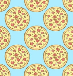 Sketch tasty pizza in vintage style vector image vector image