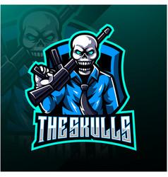Skulls esport mascot logo design vector