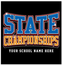 state championship vector image
