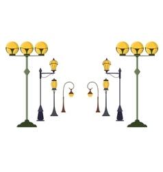 Street Lamp Post Set vector