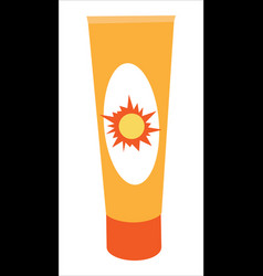 Sunscreen cream bottle vector
