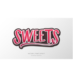 Sweet lettering alphabet sign vector