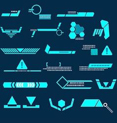 Technology blue line modern vector