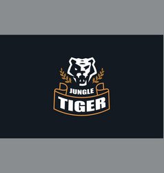 the image a tiger vector image