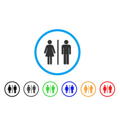 toilet rounded icon vector image