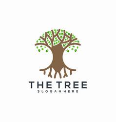 tree root circle logo abstract vector image