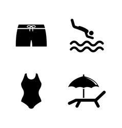 water pool swimming simple related icons vector image