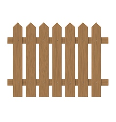 brown wooden fence vector image vector image